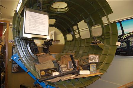 The cockpit, as displayed in the Wings of Freedom Interpretive center.