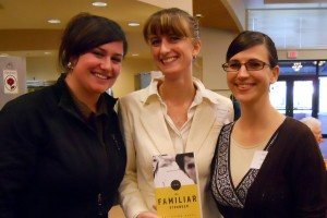 """Christina Berry, author of """"The Familiar Stranger,"""" a Christy Finalist and winner of a Carol (Book of the Year) Award and Jessica Johnson, one of the """"Diamond Girls."""""""