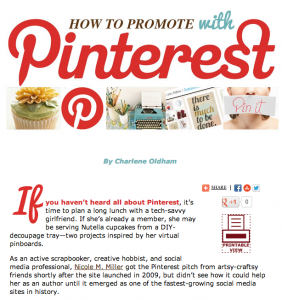 Promoting with Pinterest as an author
