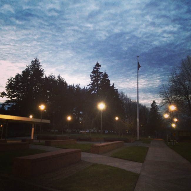 #29 - cold, clear evenings on campus